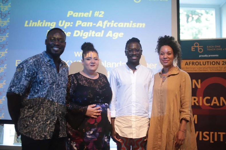 The digital panel at Afrolution 2019