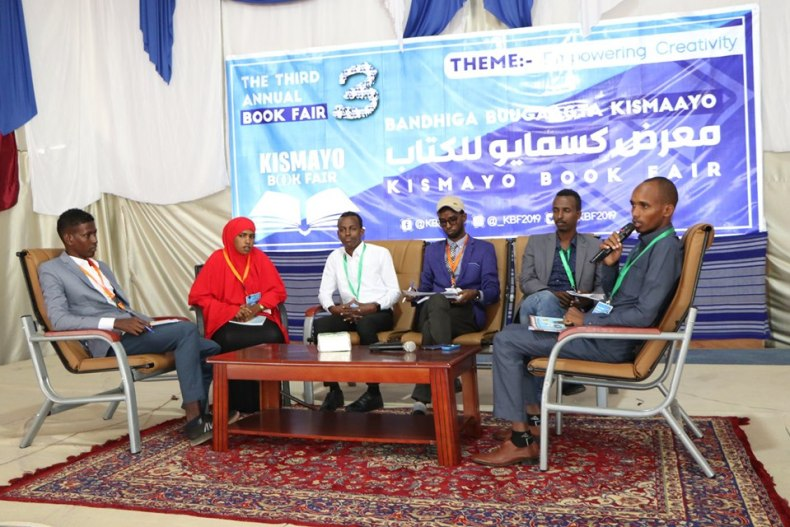 Young Somali writers at Kismayo Book Fair 2019
