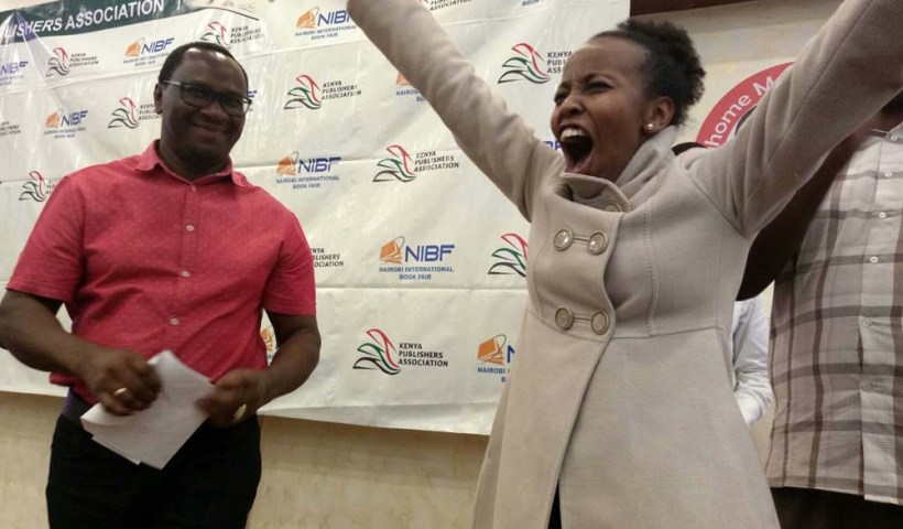 KPA chairman Lawrence Njagi with an excited Jennie Marima