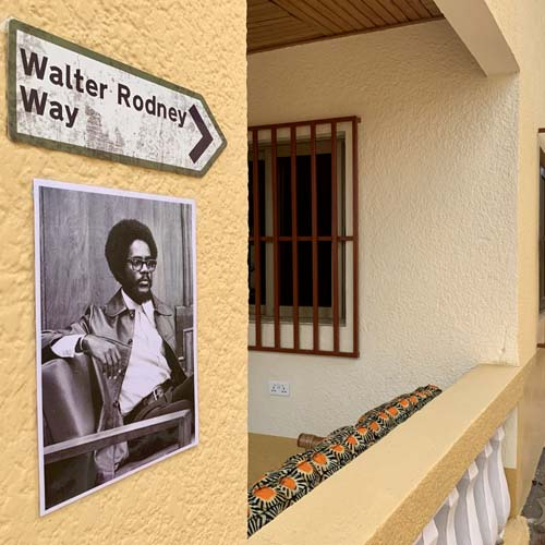 Walter Rodney Way at the Library Of Africa and The African Diaspora (LOATAD).