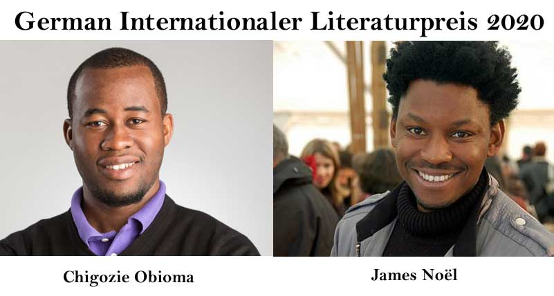 James Noël, Chigozie Obioma receive German Internationaler Literaturpreis 2020.