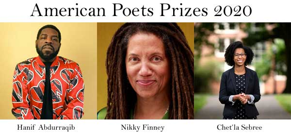 African American recipients of the American Poets Prizes 2020.