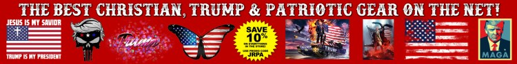 Get the BEST Trump, Qanon, Space Force, Deplorables, Women For Trump, Jesus Guides Trump, Transformation of Jesus and James Red Pills America branded gear, visit our store today! ~> https://jamesredpillsamerica.com/gear/ - SAVE 10% ON EVERYTHING! USE PROMO CODE 'JRPA'!