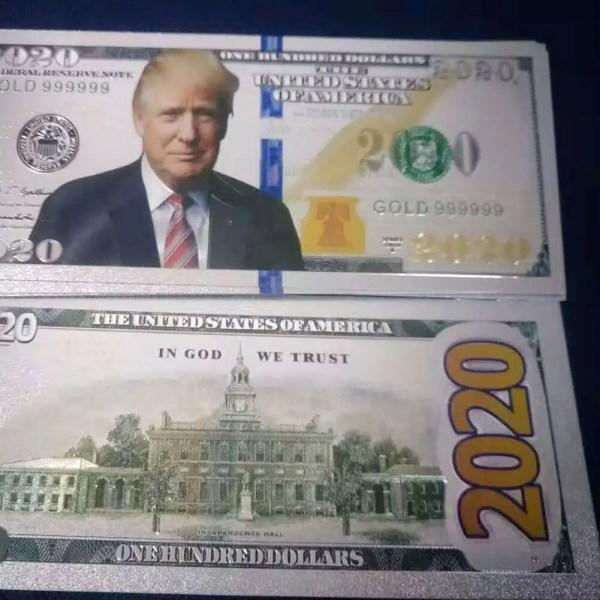 Rare! Donald Trump 2020 MAGA Novelty Bank Notes - LOOK REAL!