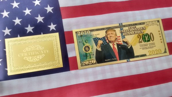 AUTHENTIC 24K GOLD 8 PC TRUMP BANK NOTE COLLECTOR'S SET w/ Certificate Of Authenticity