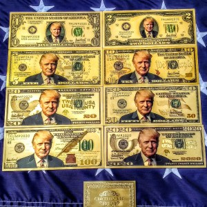 24K GOLD TRUMP FEDERAL RESERVE BANKNOTE COLLECTOR'S SERIES SET