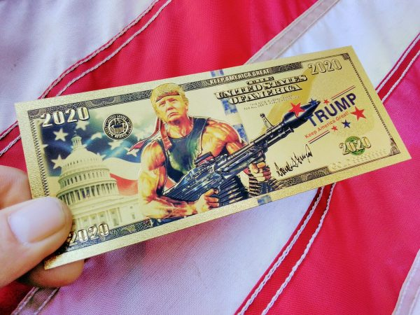 Authentic 24K Gold Rambo Trump Banknote from James Red Pills America