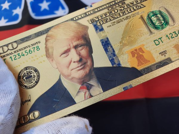 AUTHENTIC 24K GOLD DONALD TRUMP $100 BANKNOTE w/ COA STAMP