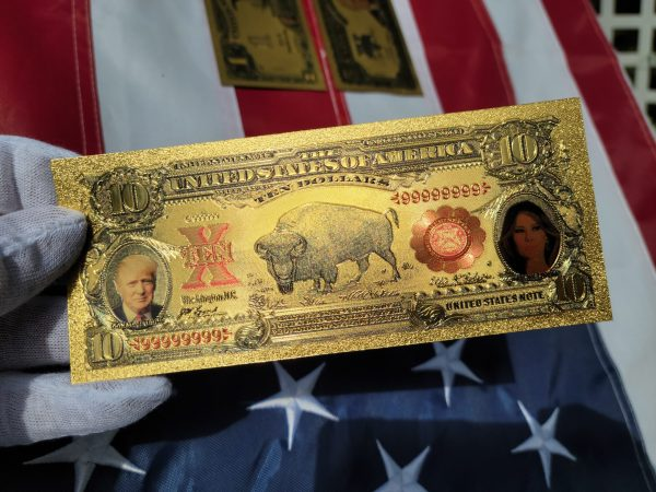 SERIES 1875 DONALD & MELANIA TRUMP NATIONAL CURRENCY 24K GOLD BANKNOTE COLLECTION SET