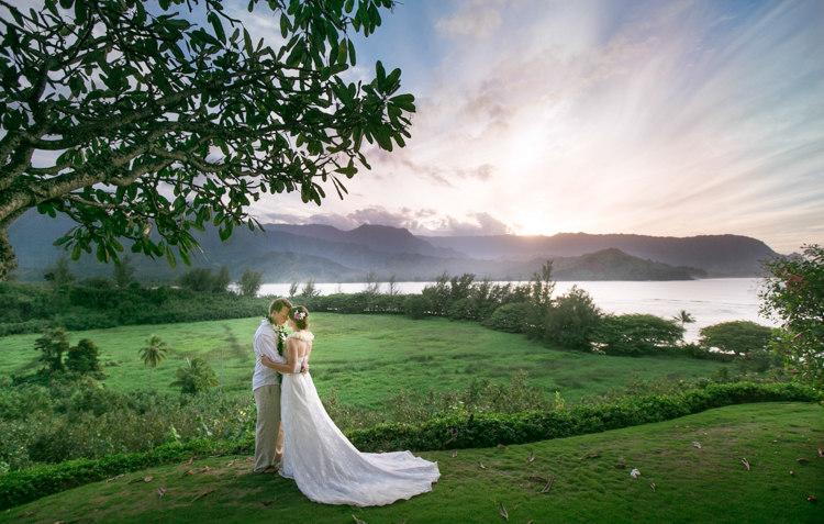 Hanalei Bay Kauai Wedding Delphie Amp Chris Hawaii