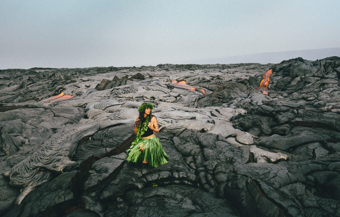 Kalapana Lava Ocean Entry With Issha Hawaii Wedding