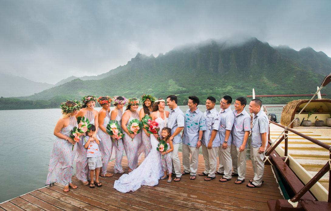 Kau I Amp John Kualoa Ranch Oahu Hawaii Wedding
