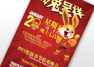 Rabbit New Year Festival Poster