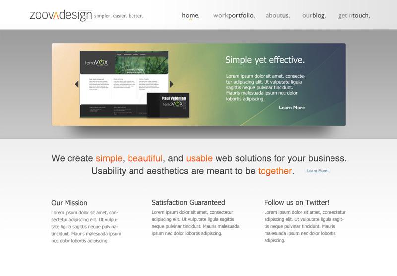 Zoova Design Website