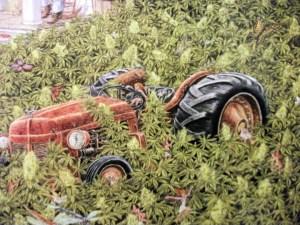 marijuana themed art piece