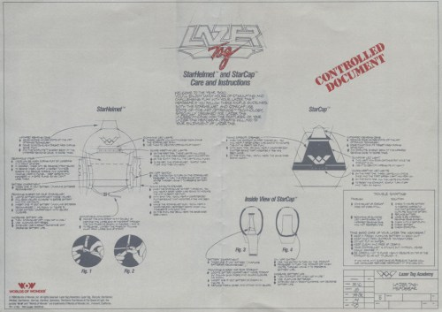 Lazer Tag - StarHelmet and StarCap instructions