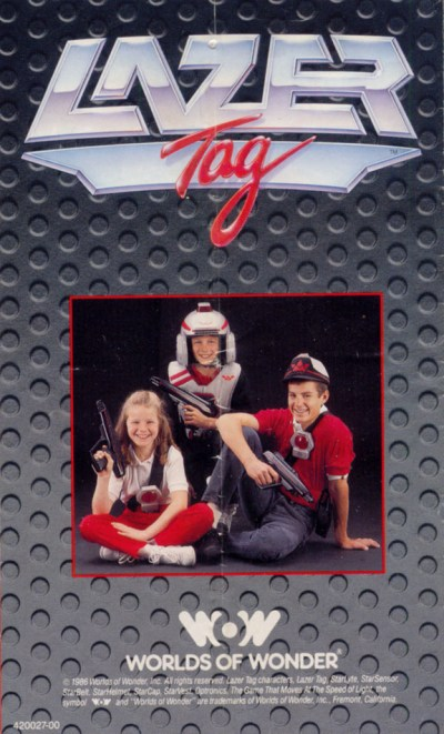 Lazer Tag Manual - Back Cover