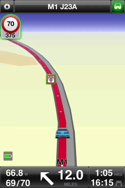 TomTom Satellite Navigation app on iOS