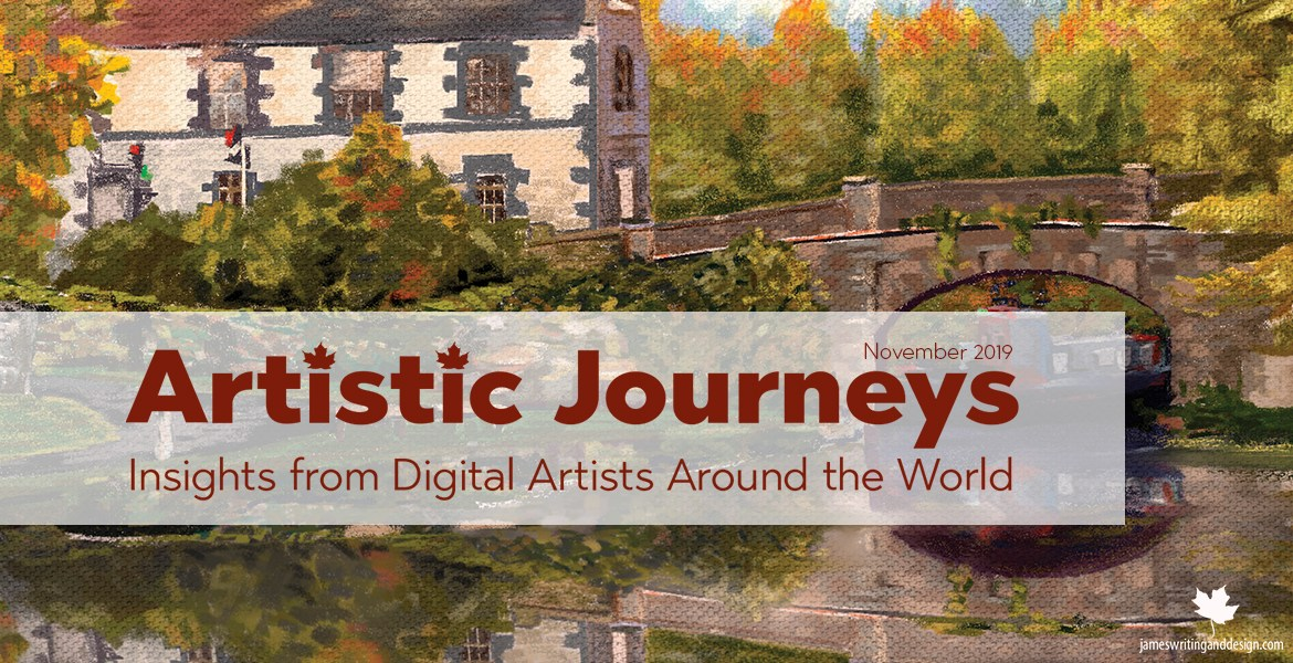 Artistic Journeys is an online publication that explores the lives of creative individuals as they share their experiences. November features Terry Sayers.