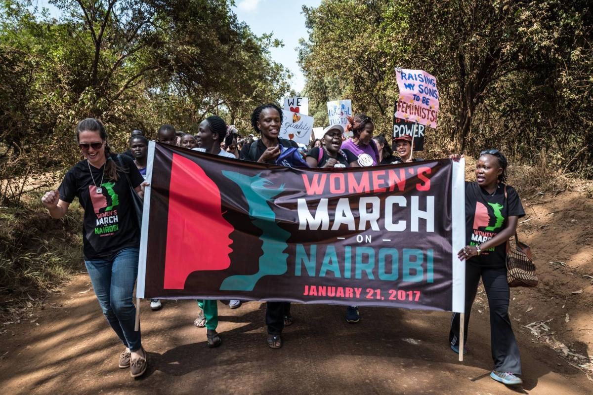 PHOTOS: Women's March in Nairobi,Kenya was equally successful as those in US.