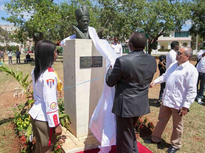 Mzee Jomo Kenyatta honored in Cuba with statue at African Heroes Park
