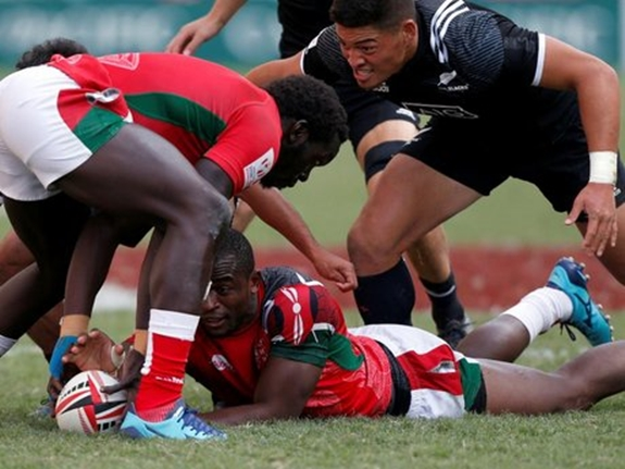 Kenya wins their first match in 2018 Sevens Rugby World Cup