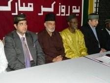 Mubarak Ahmad Zafar Sahib and Naib Ameer II Maulvi Muhammad Bin Salih Sahib