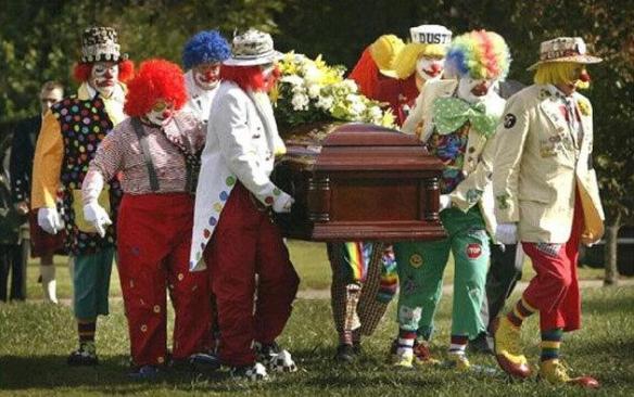 Clown-funeral