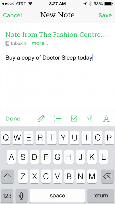 Quick Text Note