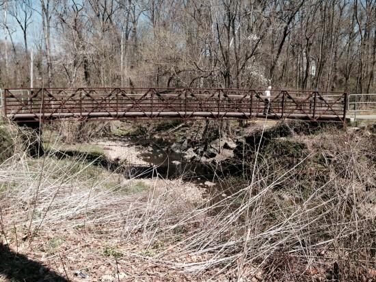 Bridge over the bike path