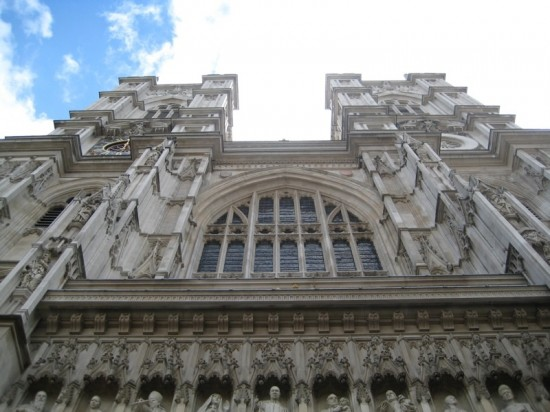 West entrance to Westminster Abbey