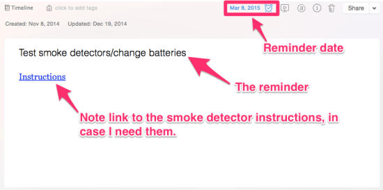 Smoke Detector Reminder