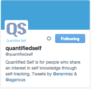 QuantifiedSelf on Twitter