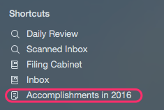 Accomplishments Shortcut
