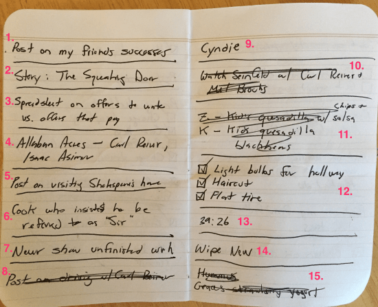 Annotated Field Notes