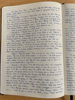 A full handwritten page in the notebook