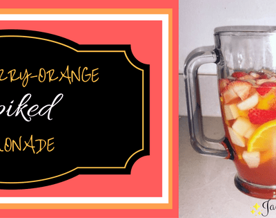 Pear-Berry-Orange Spiked Lemonade