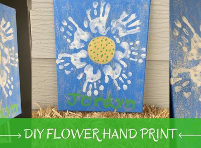 DIY Flower Hand Print