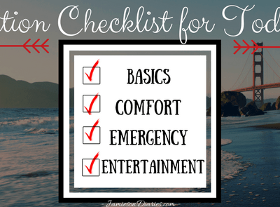 Vacation Checklist for Toddlers
