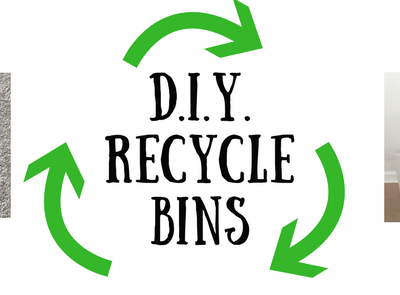 DIY Recycle Bins