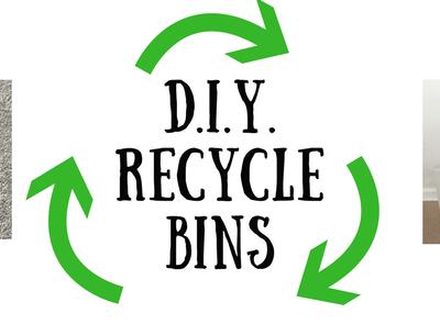 DIY Recycle Bins