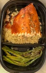 teriyaki salmon quinoa asparagus