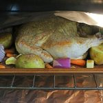 whole roasted chicken and veggies