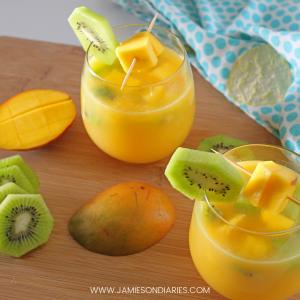 mango kiwi mimosas