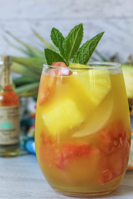 pineapple watermelon tequila cocktail