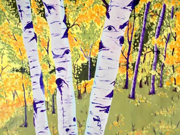"""Palmer Lake Autumn Aspens"" - Oil Painting by Colorado Artist Jamie Wilke - Original is Sold but Prints Are Available for Sale - Fall Aspens"
