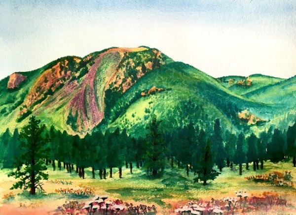 Mount Herman Watercolor Painting by Colorado Artist Jamie Wilke