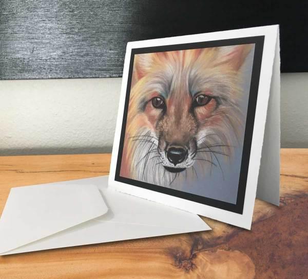 Fine Art Notecard: Red Fox - by Palmer Lake Artist Jamie Wilke