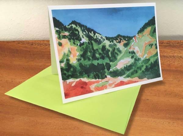 Fine Art Notecard: Palmer Lake Star in Spring - by Palmer Lake Artist Jamie Wilke