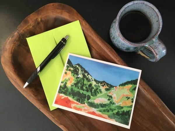 Palmer Lake Star in Spring - Watercolor Notecard by local artist Jamie Wilke